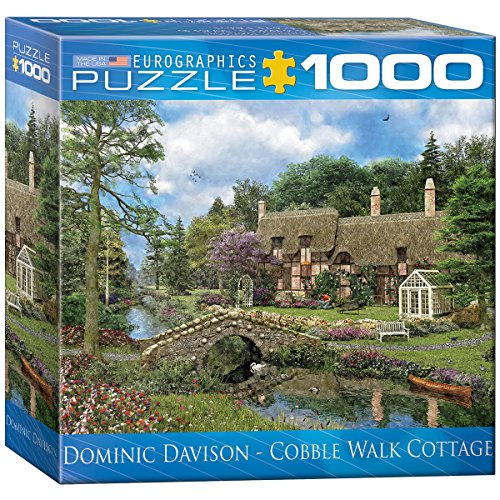 Eurographics Box Cobble Walk Cottage MO Puzzle (8 x 8 Zoll), 1000 Teile -