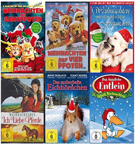 Unsere schönsten Tierfilme zu Weihnachten ( Der Geschenk Tipp - 15 Weihnachtsfilme mit Weihnachts - Mütze und Socke ) [6 DVDs]