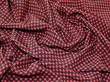Italienisches Hahnentritt Print 100% Seide Crepe Kleid