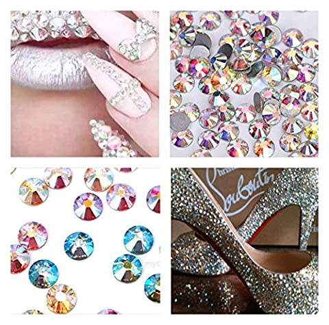 Swarovski Elements Cut Crystal Rhinestones Foiled No hot fix Mixed AB Colors SS16 150 pcs Stunning Sparkle