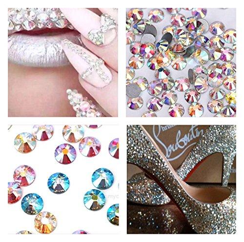 Swarovski Elements Cut Crystal Rhinestones Foiled No hot fix Mixed AB Colors SS16 150 pcs Stunning Sparkle Brilliance Test