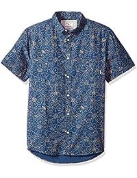 Quiksilver mens Electric Daisy Ss Button Down Shirt Electric Daisy Ss Button Down Shirt Short Sleeve Button Down Shirt