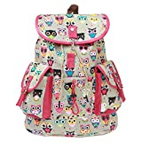 #8: BRANDX Imported Owl Passion light weight Canvas Backpack Cute Travel School College Shoulder Bag/Bookbags for Teenage Girls/Students/Women/ Girls- (US Best Seller) Designer3502C