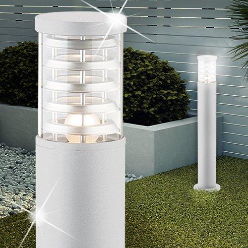 MIA Light Poller Leuchte ↥800mm/ Weiß/Alu/ AUSSEN Wege Lampe Aussenlampe Aussenleuchte Gartenlampe Gartenleuchte Pollerlampe Pollerleuchte Wegelampe Wegeleuchte - Poller-leuchten