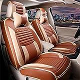 GAOFEI Coussins de housse de siège d'auto Cuir en PU, avant arrière Ensemble complet Couvre-sièges d'auto pour 5 sièges Véhicule adapté à l'utilisation de l'année , brown