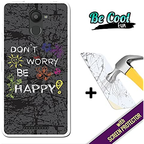 Becool® Fun - Funda Gel Flexible para Bq Aquaris U Plus, [ +1 Protector Cristal Vidrio Templado ] Carcasa TPU fabricada con la mejor Silicona, protege y se adapta a la perfección a tu Smartphone y con nuestro exclusivo diseño. No te