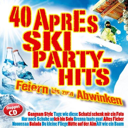 40 Aprés Ski Party Hits; Folge 1; Gangnam Style; Nur noch Schuhe an; Tage wie diese; Schatzi schenk mir ein Foto; Ich bin solo; Brenna tuats guat; Altes Fieber; Noossa; Balada; Du kleine Fliege; Hütte auf der Alm; Alt wie ein Baum; I sing a Liad für di (Style Schuhe Gangnam)