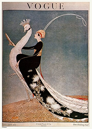onthewall Vintage Vogue Cover April 1918 Poster Kunstdruck