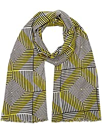 c7bb1945387b UNITED COLORS OF BENETTON Aztec Print Scarf, Echarpe Femme, Jaune  (Yellow Multi