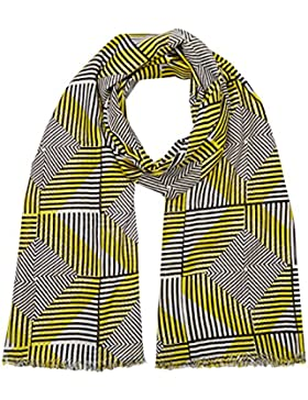 United Colors of Benetton Aztec Print Scarf, Bufanda para Mujer, Amarillo (Yellow/Multi), Talla Única (Talla del...