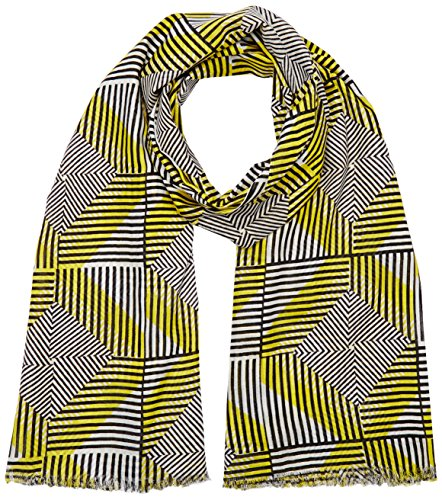 United Colors of Benetton Damen Aztec Print Scarf Schal, Gelb (Yellow/multi), One size (Herstellergröße: OS) (Aztec Print Schal)