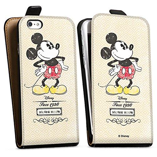 Apple iPhone X Silikon Hülle Case Schutzhülle Disney Mickey Mouse Classic Merchandise Geschenke Downflip Tasche schwarz