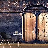 murando - Fototapete Ziegel 500x280 cm - Vlies Tapete -Moderne Wanddeko - Design Tapete – Tür Architektur d-A-0050-a-d