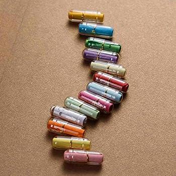 25 kleine Gutschein Kapseln 20mm x 6mm Gutscheine Loose gerollt unbedruckt Message in a Bottle Flaschenpost,Valentinstag Muttertag Gutschein für Aufräumen usw Kapsel mit Zettel