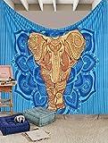 Exklusive Golden Mandala Elefant Tapisserie von