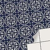 creatisto Fliesenaufkleber Fliesenfolie Mosaikfliesen - Hochwertige Aufkleber Sticker für Fliesen | Stickerfliesen - Mosaikfliesen für Küche, Bad, WC Bordüre (15x15 cm | 54 -Teilig)