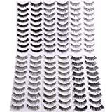 Bella Hair Falsche Wimpern Natural 60 Paare mit 6 Feminin Aussehende Stile False Lashes Multipack