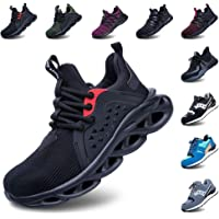 Safety Shoes Men Steel Toe Cap Women Work Trainers Comfortable Lightweight Breathable Puncture Proof Protective Footwear…