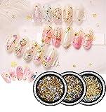 Finto diamanti 3d, Nail Star Luna Jewelry Set Set Moda giapponese rame rotondo Rivet chiodo con diamanti ornamenti di diamanti