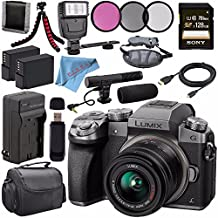 Panasonic Lumix DMC-G7 Mirrorless Camera With 14-42mm Lens (Silver) DMC-G7KS + 46mm 3 Piece Filter Kit + DMW-BLC12 Lithium Ion Battery + External Rapid Charger + Sony 128GB SDXC Card Bundle