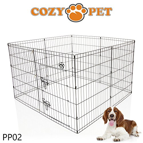 Cozy Pet Medium Puppy Playpen for Dogs Puppies Rabbits Guinea Pigs, Puppy Play Pen Whelping Pen Dog Cage Puppy Crate Rabbit Run 3 Sizes PP02. (We do not ship to the Channel Islands or The Isles of Scilly.)