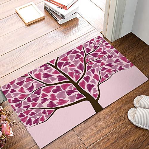 s Day Theme Baum des Lebens Fußmatte Eingangsmatte Bodenmatte Teppich Indoor/Outdoor/Haustür/Bad Matten Gummi rutschfest ()
