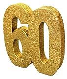 Generique - Tisch-Dekoration - Zahl 60 - Gold