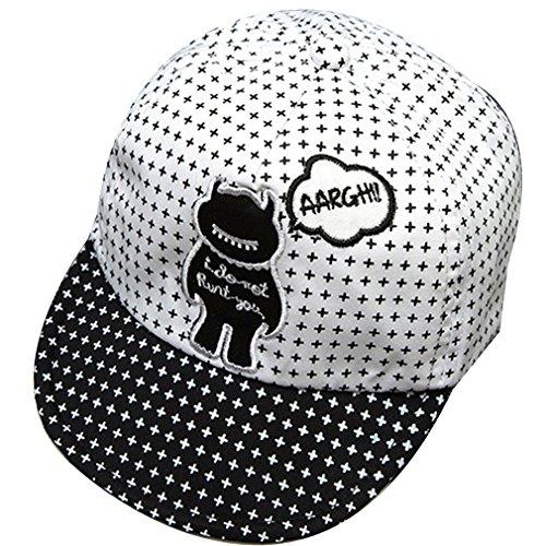 Belsen Distressed Baby Kids Kappe Hut Kinder Mütze Halloween Teufel Cap (weiß) (Halloween-mütze)