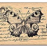 Florilèges Design FE112018 - Timbro per Scrapbooking, Fantasia: Farfalle, 5 x 7 x 2,5 cm, Colore: Beige