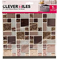 4 X F 20580 Glitzer Mosaik Fliesen Selbstklebend Kupfer Farbe