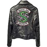 Yesgirl Donna Giacca da Moto Biker Riverdale Southside Serpents di Bell'Aspetto Jacket Giacca Cappotto