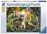 Ravensburger 14745–Wolf Familia en Sol Puzzle para Adultos