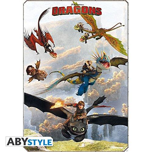 Poster DRAGONS Cavaliers de Beurk 98x68cm
