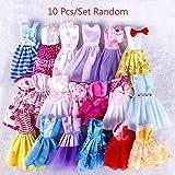 ZHUOTOP 10pezzi Handmade Dress wedding party mini abito vestiti per bambola Barbie