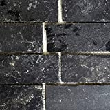 Mosaik Fliese Schiefer Naturstein Brick anthrazit Black Jack für BODEN WAND BAD WC DUSCHE KÜCHE FLIESENSPIEGEL THEKENVERKLEIDUNG BADEWANNENVERKLEIDUNG Mosaikmatte Mosaikplatte
