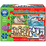 Orchard Toys Animals 4 in a Box (Assorted Colours)