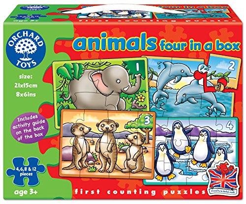 Orchard Toys - Juego de 4 puzzles de animales, varios colores