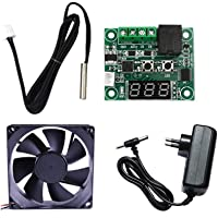 Electronic Spices Combo for DIY Incubator W1209 12V DC Digital Temperature Controller Board with 12v 1amp charger and 3…