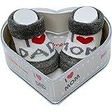 Dafi soft Neonato Bambino Socks 0-4 Mesi | Spesse Impugnature In Cotone E Antiscivolo | Set Regalo Per Neonato Nuovo Perfetto