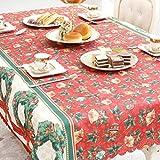 Moresave Nappe de Noël Xmas Party Salle à manger Décoration Festive Table Tissu Ornement