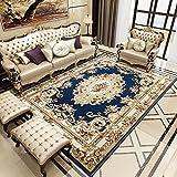 WJS Teppich-europäischer Art-Wohnzimmer-Sofa-Wolldecke-Schlafzimmer-Nachttisch-Palast-Boden-Matte-Haus verdickte Luxus-Teppich 78,7 * 110,2 Zoll (Farbe : B)