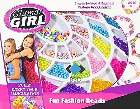 Grands enfants Perles de mode de bijoux Set - Perle Set Glamor Girl - 500 pièces - Perles et accessoires Set - Bracelets