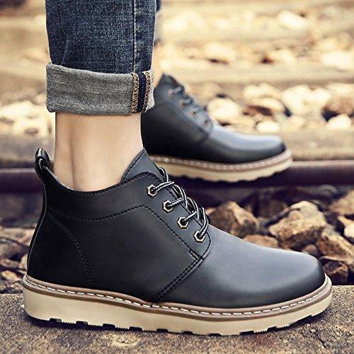 FEIFEI Scarpe da uomo PU Materiale antiscivolo Martin Boots resistente all'usura 3 colori ( Colore : Giallo , dimensioni : EU39/UK6.5/CN40 ) Grigio