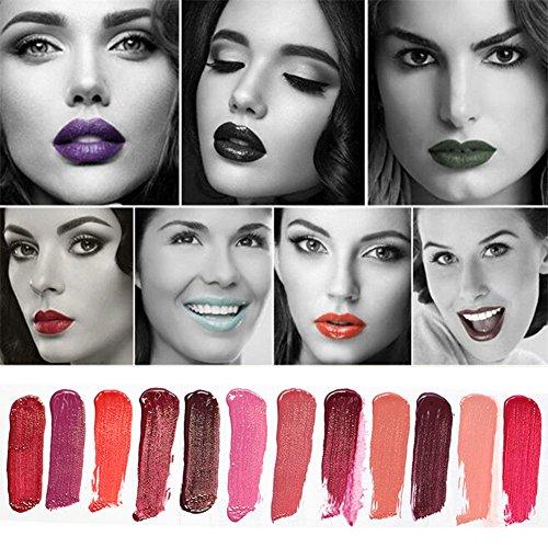 Matt Sexy Lipsticks Waterproof Long Lasting 15 Colors Fashion Beauty Women Liquid lip glosses Makeup set Cosmetics Moisturing Velvet Lip Pen (15 COLORS)