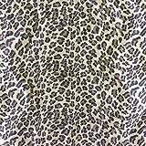 Leopard Print Animal Haut Velboa Kunstfell Stoff Velours