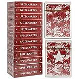 Tronje Pokerkarten 12 Decks Spiel-Karten Poker-Karten in Rot Wasserabweisend 2 Eckzeichen