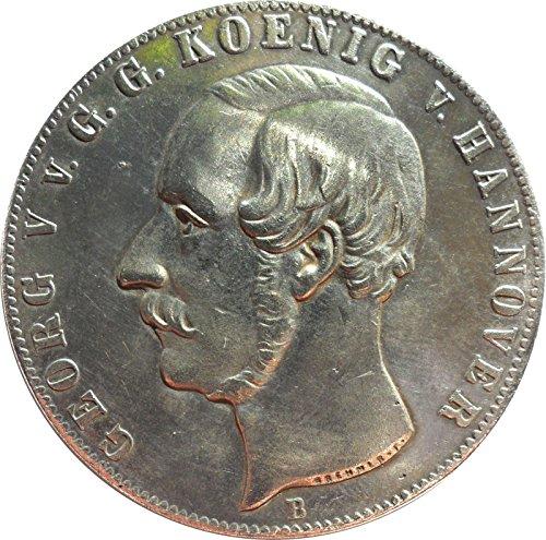 Münze Altdeutschland Doppeltaler 1855 B Braunschweig-Calenberg-Hannover Georg V. Replica