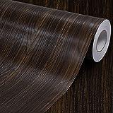 Faux grano de madera papel de contacto estante maletero de vinilo autoadhesivo cubierta para encimera de cocina gabinetes cajón muebles para pared (23