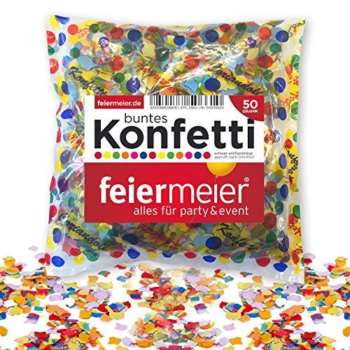 PartyMarty FM-KONFPBU50 Keine Papierkonfetti, Mehrfarbig