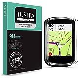 [2020 Nuevo Mejorado] TUSITA Cristal Templado para Garmin Edge 530 830 - Protector Pantalla (2 Unidades) Ultrafino Vidrio (0.